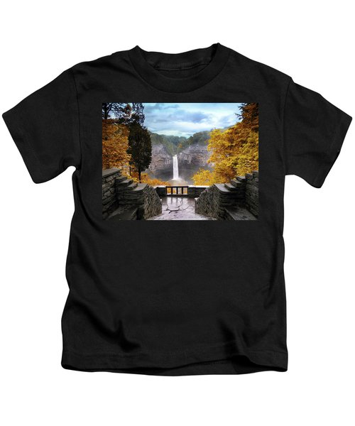 Taughannock In Autumn Kids T-Shirt