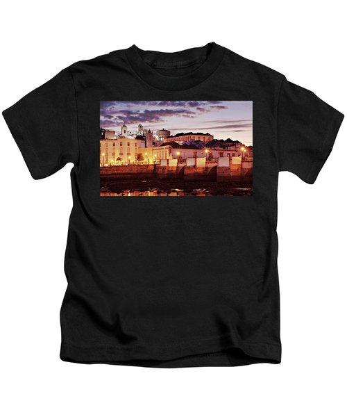 Tavira At Dusk - Portugal Kids T-Shirt