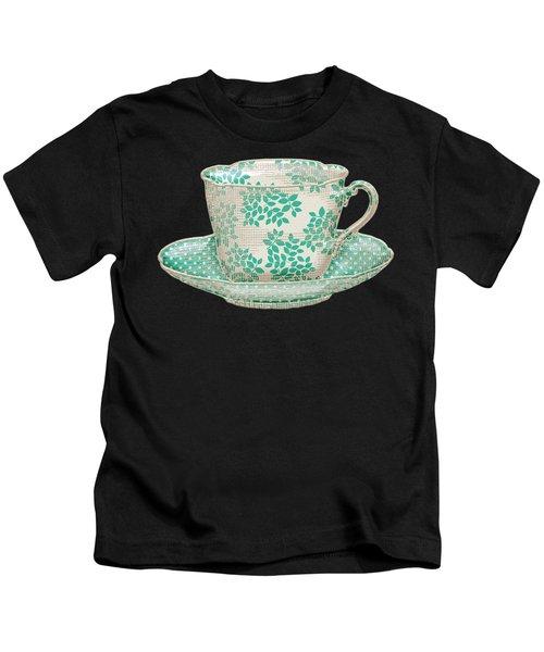 Teacup Garden Party 1 Kids T-Shirt