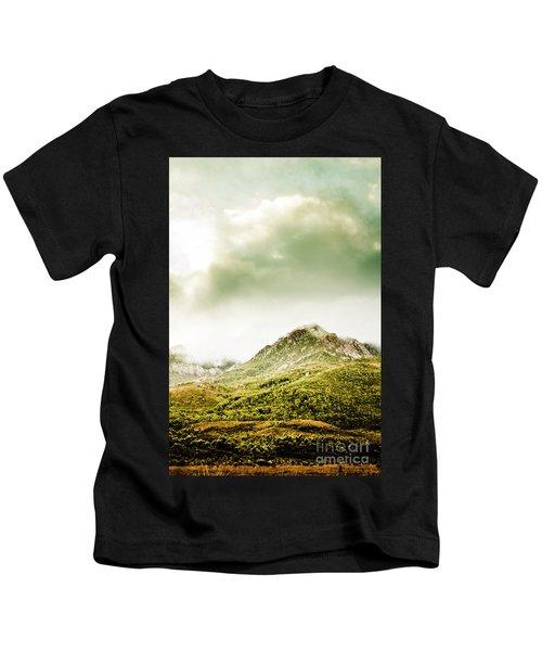 Temperate Alpine Terrain Kids T-Shirt