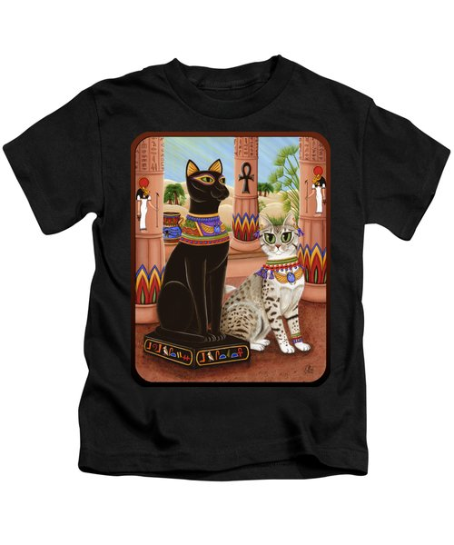 Temple Of Bastet - Bast Goddess Cat Kids T-Shirt