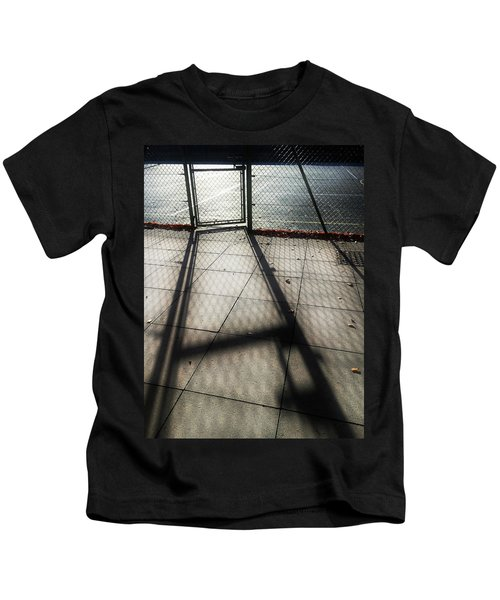 Tennis Court Shadows Kids T-Shirt