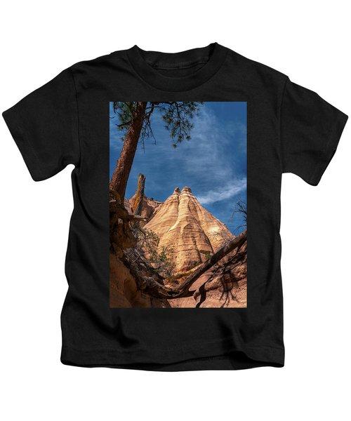 Tent Rock And Ponderosa Pine Kids T-Shirt