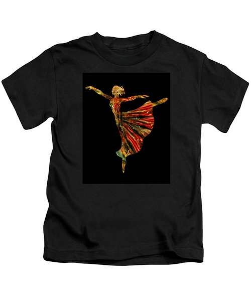 Terrestrial Night Ballerina Silhouette  Kids T-Shirt