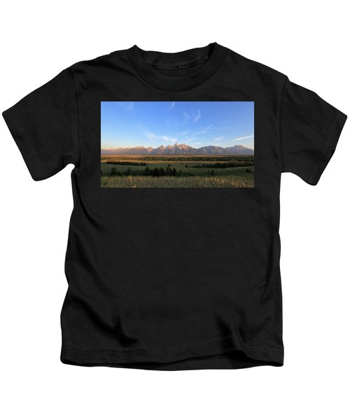 Teton Range After Sunrise Kids T-Shirt