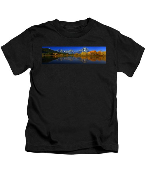 Tetons From Oxbow Bend Kids T-Shirt