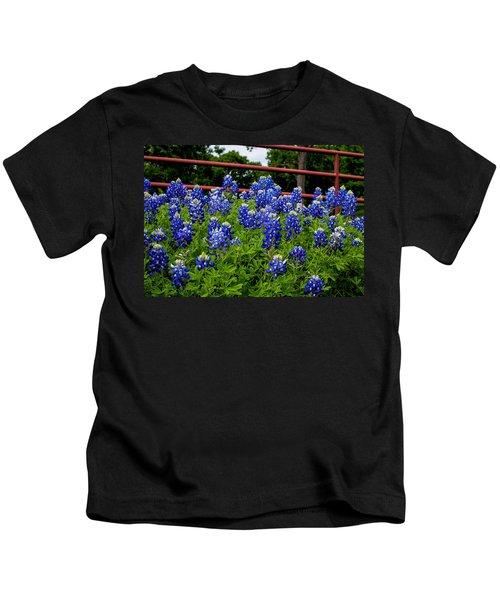 Texas Bluebonnets In Ennis Kids T-Shirt