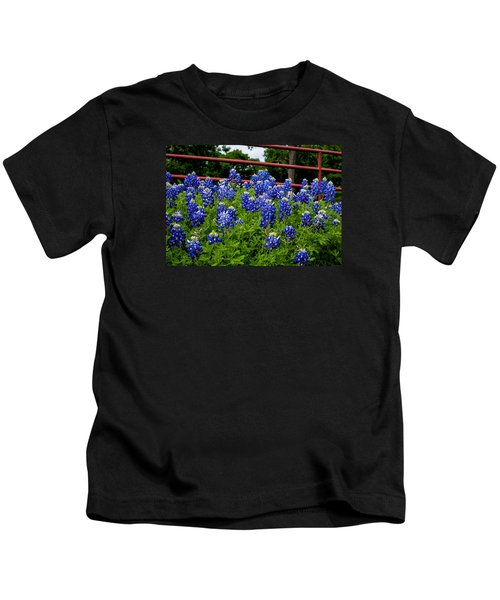 Texas Bluebonnets In Ennis Kids T-Shirt