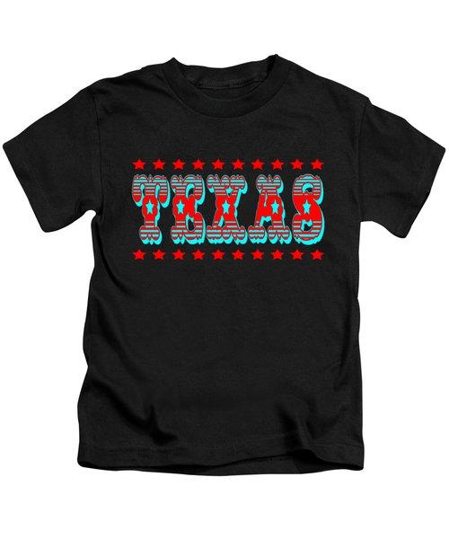 Texas Lone Star State Design Kids T-Shirt