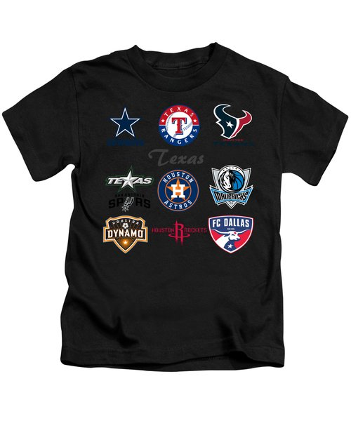 Texas Professional Sport Teams Kids T-Shirt