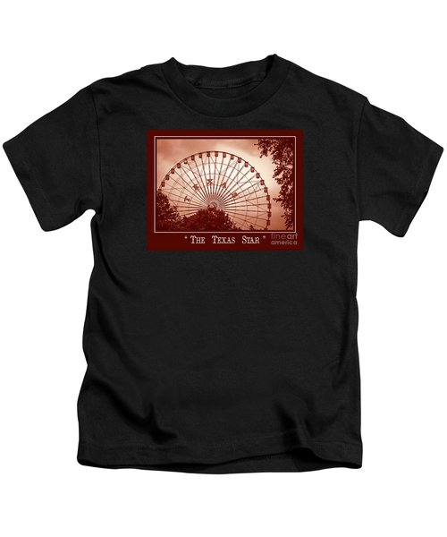Texas Star In Orange Kids T-Shirt