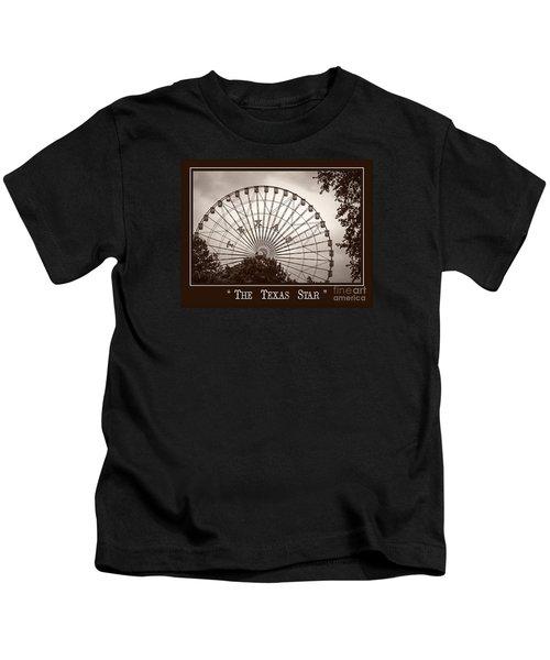 Texas Star In Sepia Kids T-Shirt