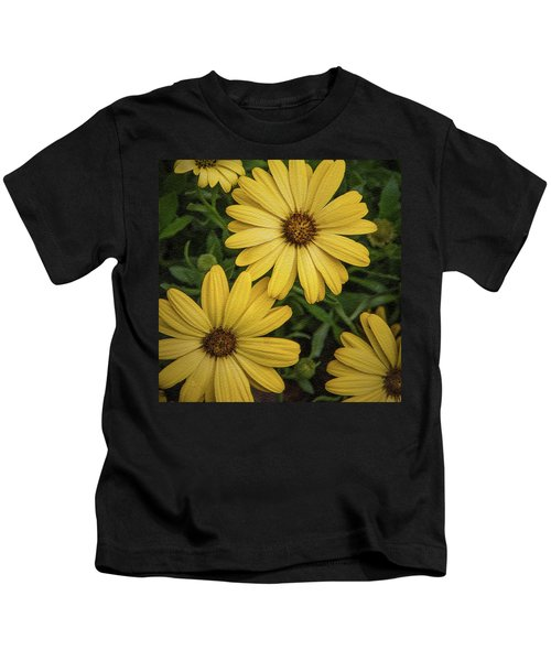 Textured Floral Kids T-Shirt