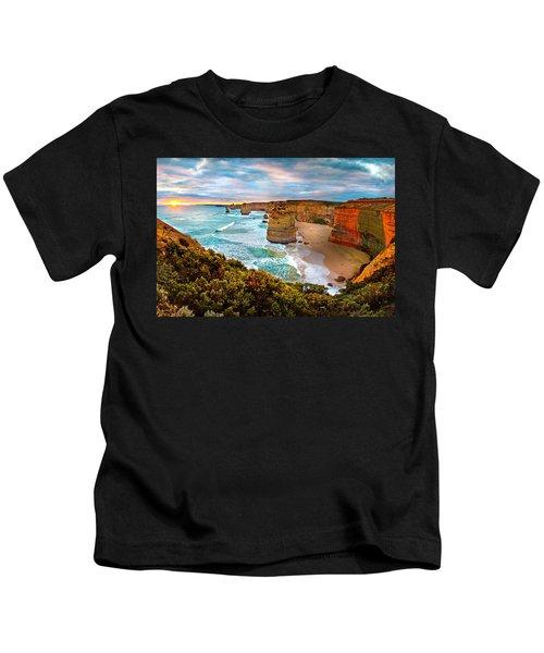 The Apostles Sunset Kids T-Shirt