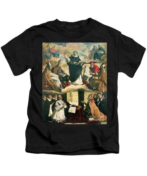 The Apotheosis Of Saint Thomas Aquinas Kids T-Shirt