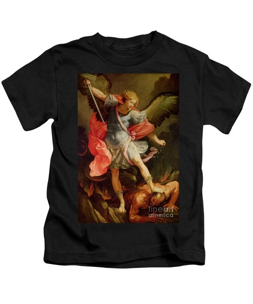 The Archangel Michael Defeating Satan Kids T-Shirt