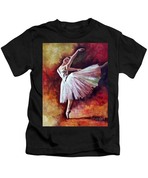 The Dancer Tilting - Adaptation Of Degas Artwork Kids T-Shirt