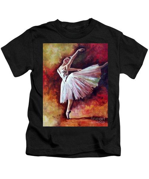 The Dancer Tilting - Adaptation Of Degas Artwork Kids T-Shirt