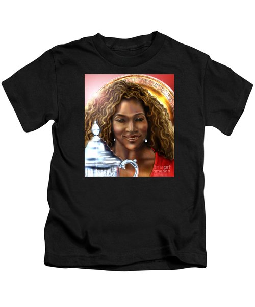 The Beauty Victory That Is Serena Kids T-Shirt by Reggie Duffie
