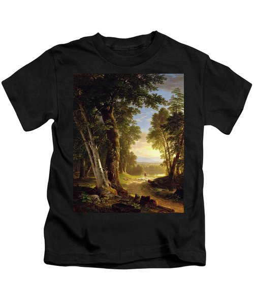 The Beeches By Asher Brown Durand Kids T-Shirt