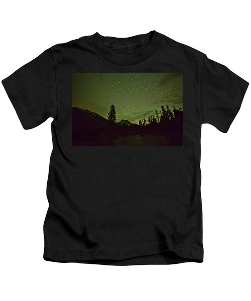 The Big Dipper Over Mount Moran Kids T-Shirt