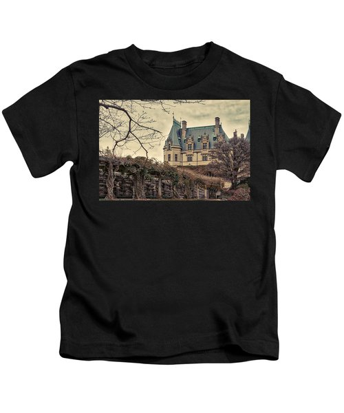 The Biltmore Mansion In The Fall Kids T-Shirt