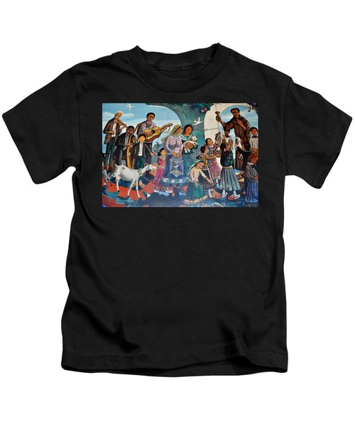 The Blessing Of Animals Olvera Street Kids T-Shirt