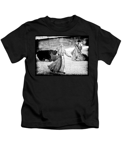 The Blond, The Bull And The Coup De Gras Bullfight Kids T-Shirt