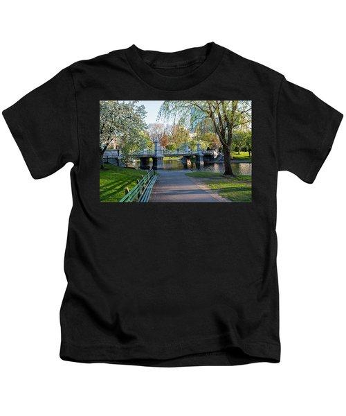 The Boston Public Garden In The Spring Boston Ma Kids T-Shirt