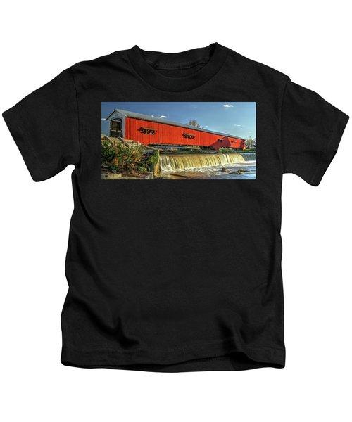 The Bridgeton Covered Bridge Kids T-Shirt