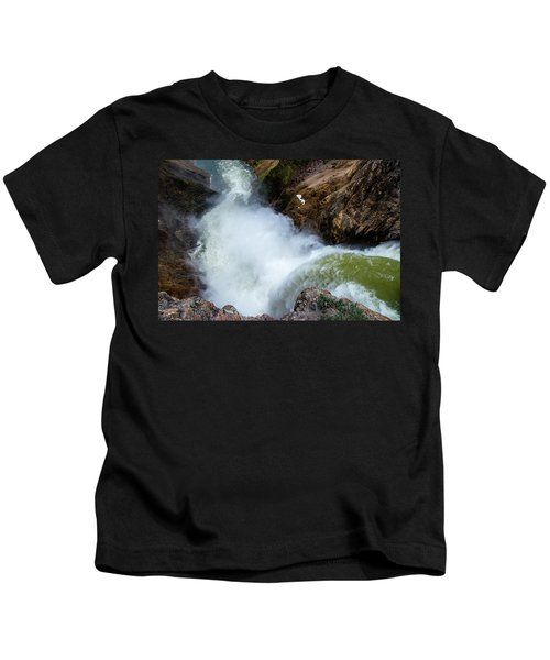 The Brink Of The Lower Falls Of The Yellowstone River Kids T-Shirt