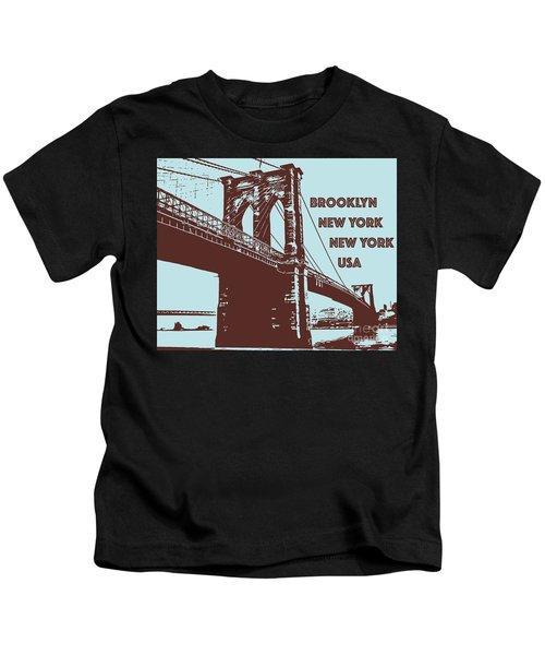 The Brooklyn Bridge, New York, Ny Kids T-Shirt