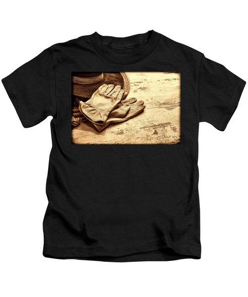 The Cowboy Gloves Kids T-Shirt