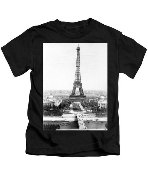 The Eiffel Tower With A View Of Paris Kids T-Shirt