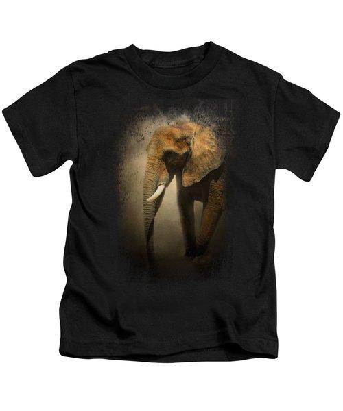 The Elephant Emerges Kids T-Shirt by Jai Johnson