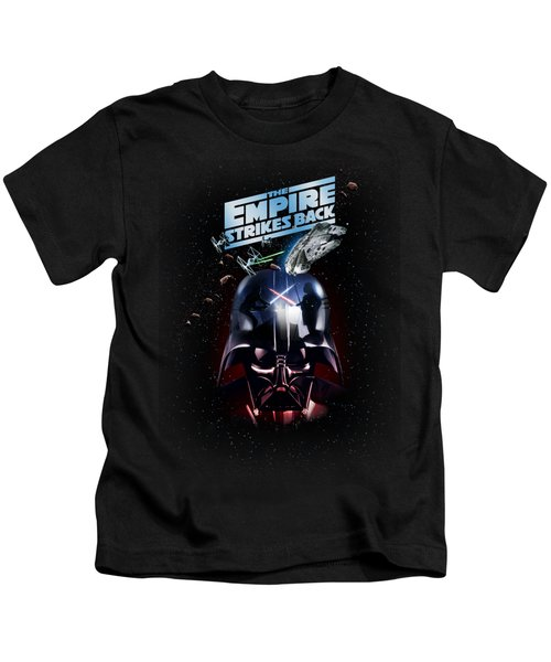 The Empire Strikes Back Kids T-Shirt by Edward Draganski