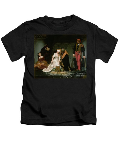 The Execution Of Lady Jane Grey Kids T-Shirt by Hippolyte Delaroche