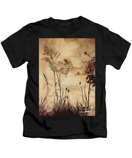 The Fairy's Tightrope From Peter Pan In Kensington Gardens Kids T-Shirt