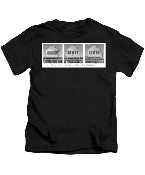 The Flower Cottages Trio Poster Kids T-Shirt