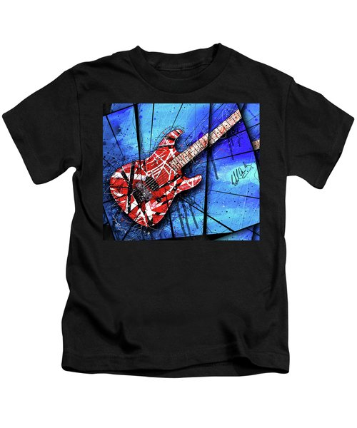 The Frankenstrat Vii Cropped Kids T-Shirt by Gary Bodnar