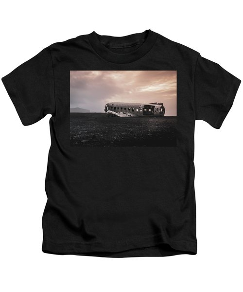 The Ghost - Plane Wreck In Iceland Kids T-Shirt