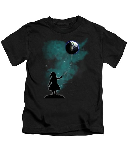 The Girl That Holds The World Kids T-Shirt by Nicklas Gustafsson