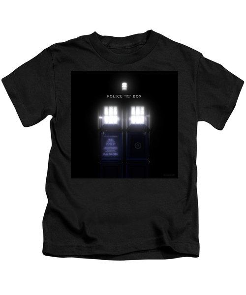 The Glass Police Box Kids T-Shirt