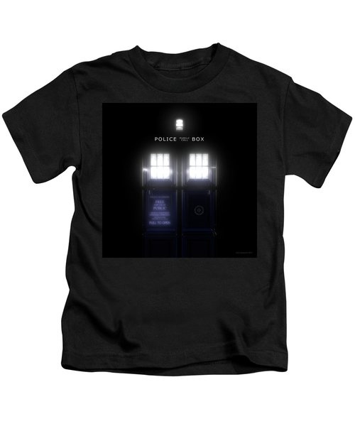 The Glass Police Box Kids T-Shirt