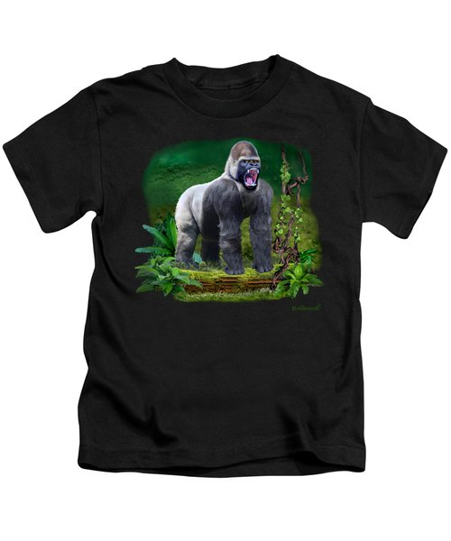 The Guardian Of The Rain Forest Kids T-Shirt by Glenn Holbrook