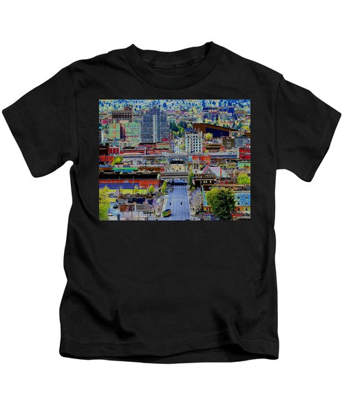 The Heart Of Downtown Spokane  Kids T-Shirt