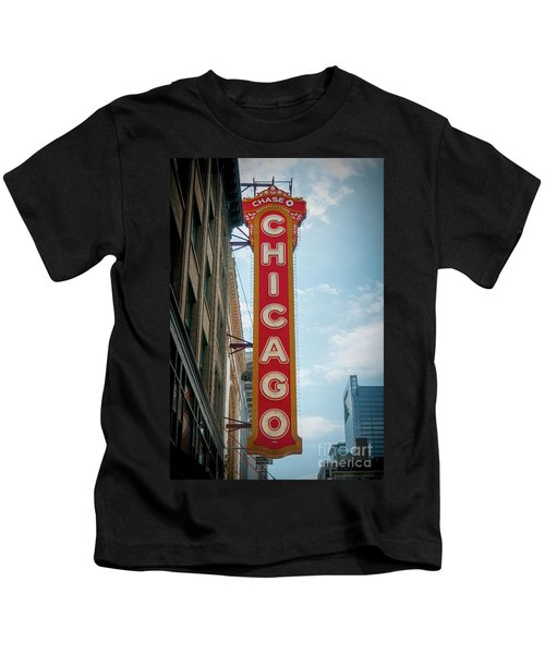 The Iconic Chicago Theater Sign Kids T-Shirt
