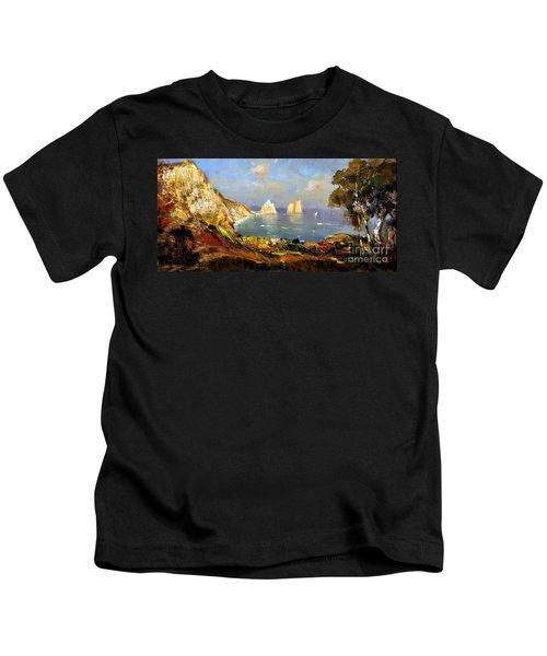 The Island Of Capri And The Faraglioni Kids T-Shirt