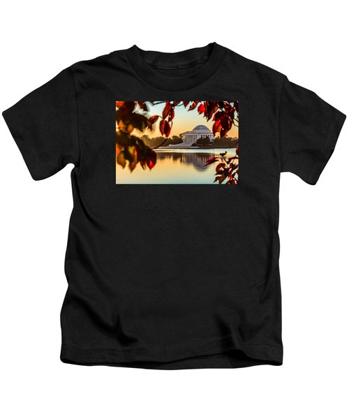 Jefferson In Autumn Kids T-Shirt