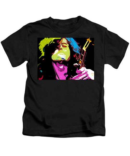 The Jimmy Page By Nixo Kids T-Shirt by Nicholas Nixo